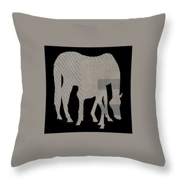 Foal Serenity Throw Pillow by Anne Rickard