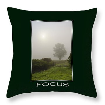 Focus Inspirational Poster Art Throw Pillow by Christina Rollo