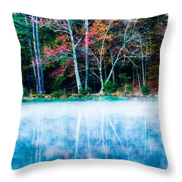 Fog On The Lake Throw Pillow by Parker Cunningham