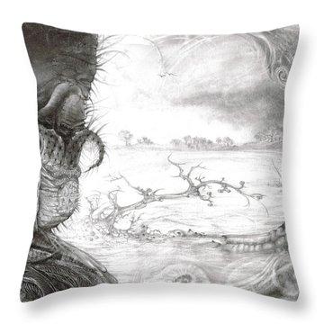 Fomorii Swamp Throw Pillow by Otto Rapp
