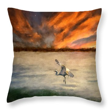 For Just This One Moment Throw Pillow by Lois Bryan