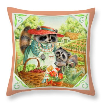 For Mom Throw Pillow by Lynn Bywaters