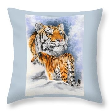 Forceful Throw Pillow by Barbara Keith
