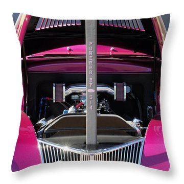 Ford Hot Rod Grille Throw Pillow by Jill Reger