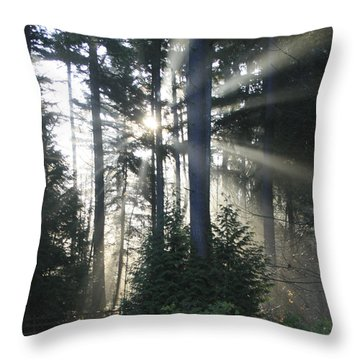 Forest Sunrise Throw Pillow by Crista Forest