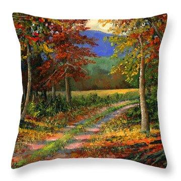 Forgotten Road Throw Pillow by Frank Wilson