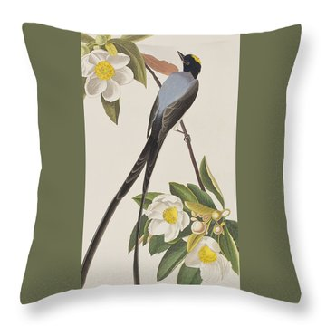 Fork-tailed Flycatcher  Throw Pillow by John James Audubon