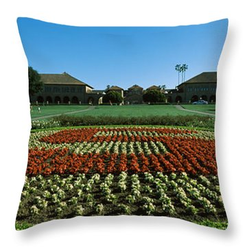 Formal Garden At The University Campus Throw Pillow by Panoramic Images