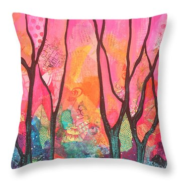Forrest Energy II Throw Pillow by Shadia Zayed