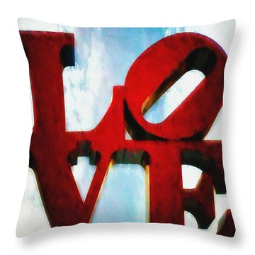 Fountain Of Love  Throw Pillow by Bill Cannon