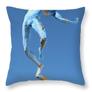Foxtails In The Breeze Photographed Outside Throw Pillow by Adam Long
