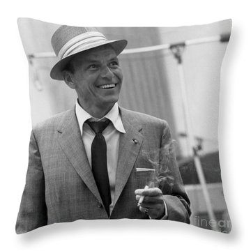 Frank Sinatra - Capitol Records Recording Studio #3 Throw Pillow by The Titanic Project