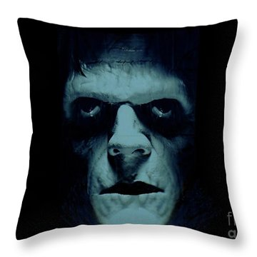 Frankenstein Throw Pillow by Janette Boyd