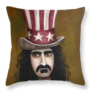 Franks Hat Throw Pillow by Leah Saulnier The Painting Maniac
