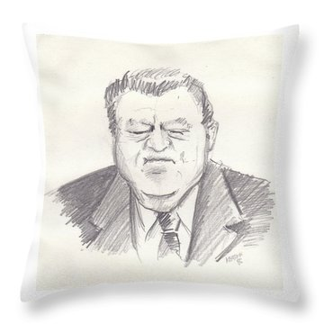 Franz Strauss Throw Pillow by John Keaton