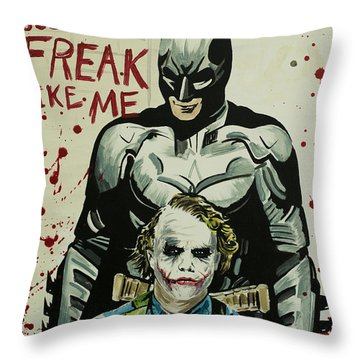 Freak Like Me Throw Pillow by James Holko