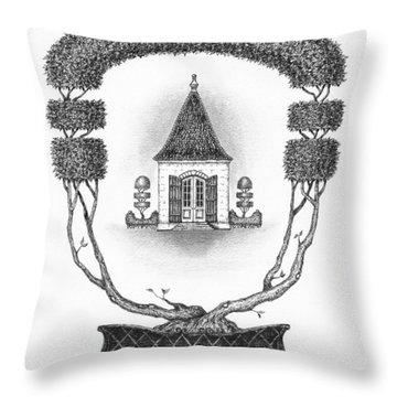 French Garden House Throw Pillow by Adam Zebediah Joseph