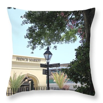 French Market Throw Pillow by Todd A Blanchard