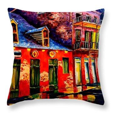 French Quarter Dazzle Throw Pillow by Diane Millsap
