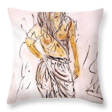 Fresh Dip Throw Pillow by Piety Dsilva