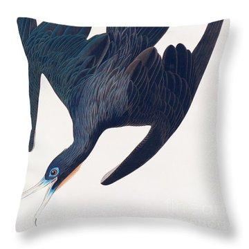 Frigate Penguin Throw Pillow by John James Audubon
