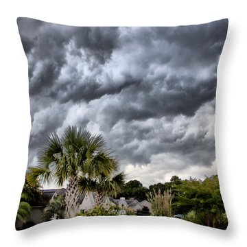 Frontal Clouds Throw Pillow by Dustin K Ryan