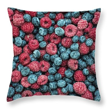 Frozen Berries Throw Pillow by Tim Gainey