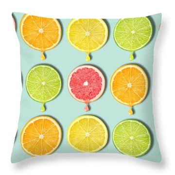 Fruity Throw Pillow by Mark Ashkenazi