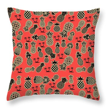 Fruity Pineapple  Throw Pillow by Naviblue