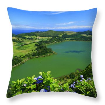 Furnas Lake Throw Pillow by Gaspar Avila