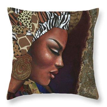 Further Contemplation Throw Pillow by Alga Washington