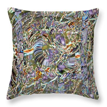 Fused Throw Pillow by Tim Allen