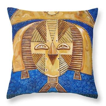 Gabon Mask - A Multi-cultural Celebration Throw Pillow by John Keaton
