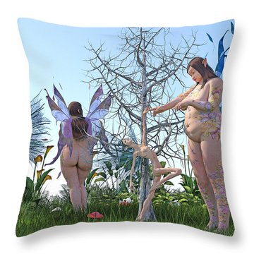 Gained Loss  Throw Pillow by Betsy Knapp