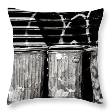 Garbage Throw Pillow by Madeline Ellis