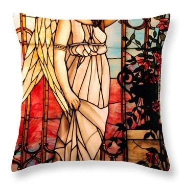 Garden Angel Throw Pillow by Kristin Elmquist