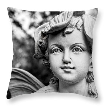 Garden Fairy - Bw Throw Pillow by Christopher Holmes