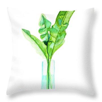 Garden Indoors Throw Pillow by Roleen Senic