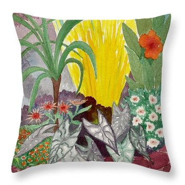 Garden Scene Sep.2010 Throw Pillow by Fred Jinkins