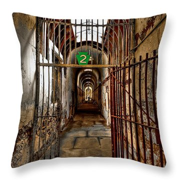Gateway To Hell Throw Pillow by Evelina Kremsdorf
