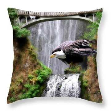Gathering Of Eagles Throw Pillow by Constance Woods