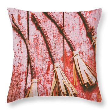 Gathering Of Evil Witches Still Life Throw Pillow by Jorgo Photography - Wall Art Gallery