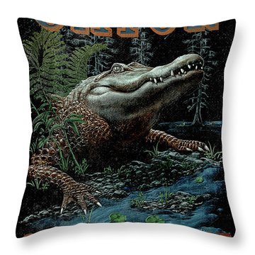 Gator Country Throw Pillow by JQ Licensing