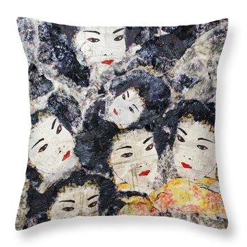 Geisha Throw Pillow by Shelley Jones
