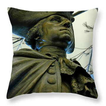 General George Washington Throw Pillow by LeeAnn McLaneGoetz McLaneGoetzStudioLLCcom