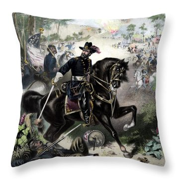 General Grant During Battle Throw Pillow by War Is Hell Store