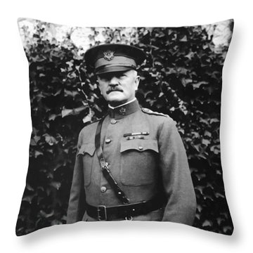 General John J. Pershing Throw Pillow by War Is Hell Store