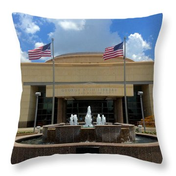 George Bush Library And Museum Throw Pillow by Art Spectrum