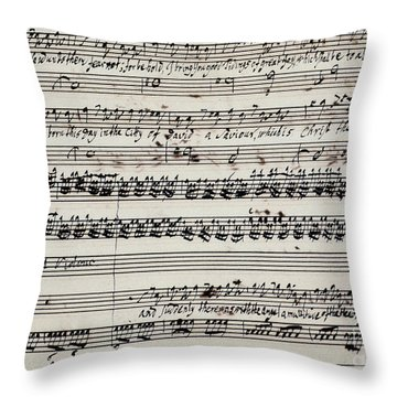 George Frederick Handel Throw Pillow by Granger