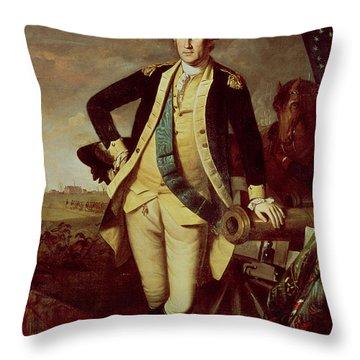 George Washington At Princeton Throw Pillow by Charles Willson Peale